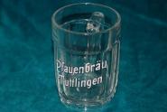 Glaskrug der Pfauenbrauerei Tuttlingen